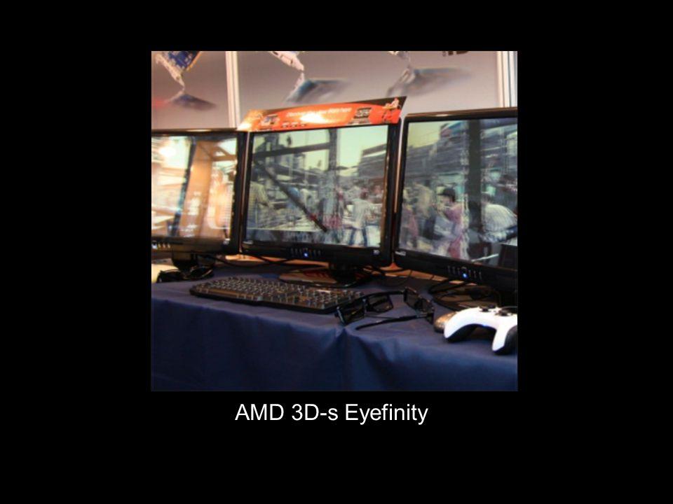  Az Eyefinity-vel ellentétben az NVIDIA Surround technológiája teljesen szoftveres alapokon nyugszik, ám a beszámolók alapján nem érzékelhető szinkronizációs probléma a monitoron megjelenő képek között.