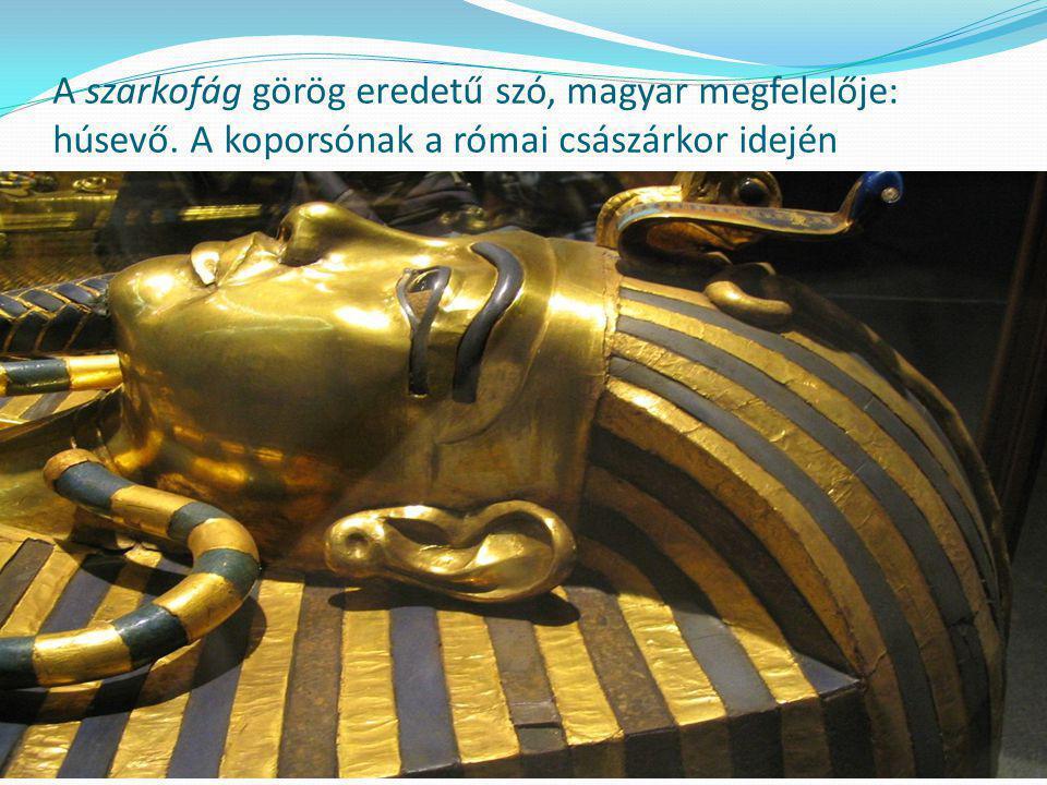 A szarkofág görög eredetű szó, magyar megfelelője: húsevő.