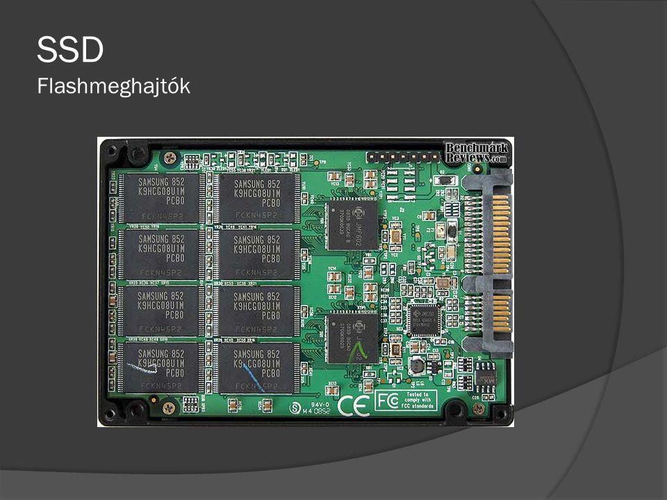 DRAM SSD  Memória elemeket tartalmazó meghajtó. Nagyon gyors írási és olvasási sebesség.