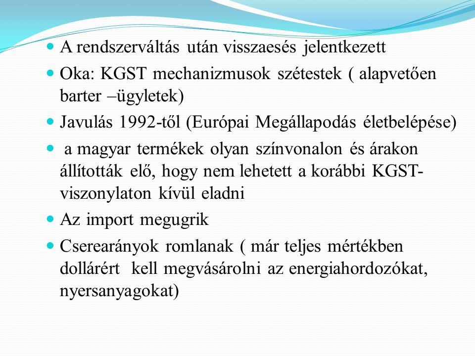 A csatlakozás gazdasági előnyei nemzetközi munkamegosztásba bekapcsolódás EU-belföldivé válunk (pl.