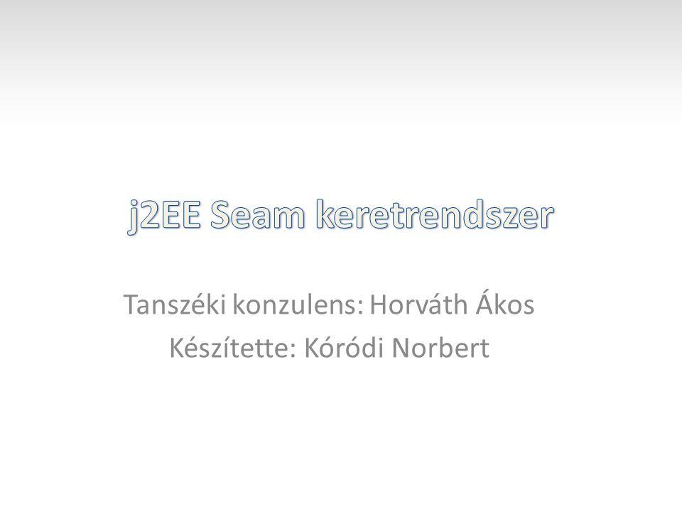 Tanszéki konzulens: Horváth Ákos Készítette: Kóródi Norbert