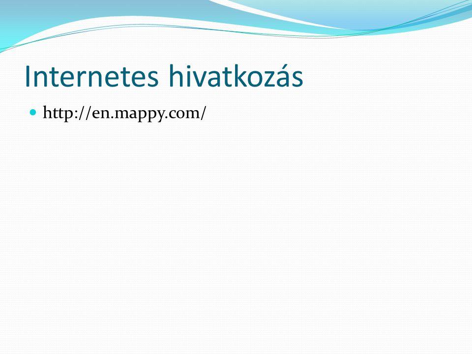 Internetes hivatkozás http://en.mappy.com/