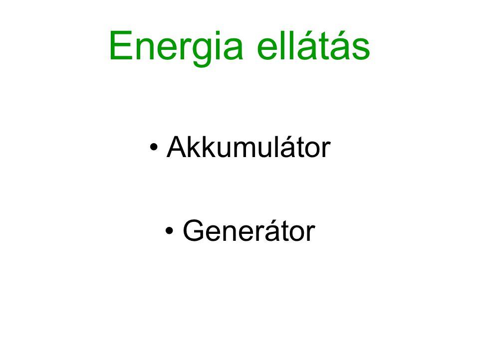 Energia ellátás Akkumulátor Generátor