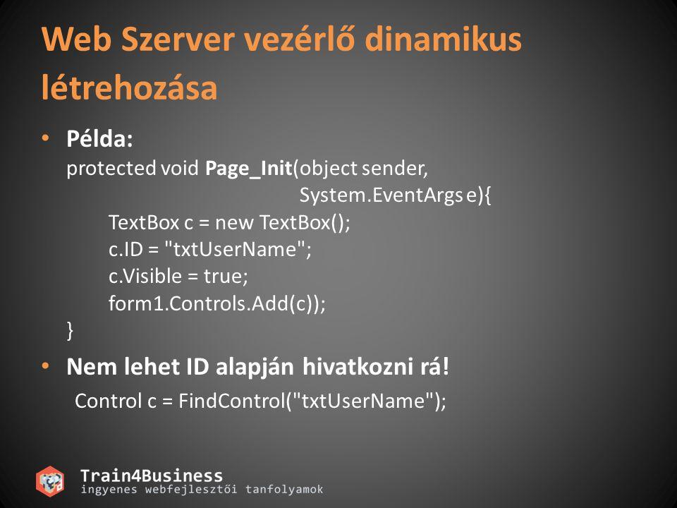 Biztosítja, hogy a felhasználó által beütött adat helyes Blokkolja a továbblépést, amíg minden kontrol tartalma helyes lesz Ellenállóbbá tehető a webalkalmazás bizonyos rosszindulatú fenyegetésekkel szemben – SQL injection – Cross Site Scripting Mi az a validálás.