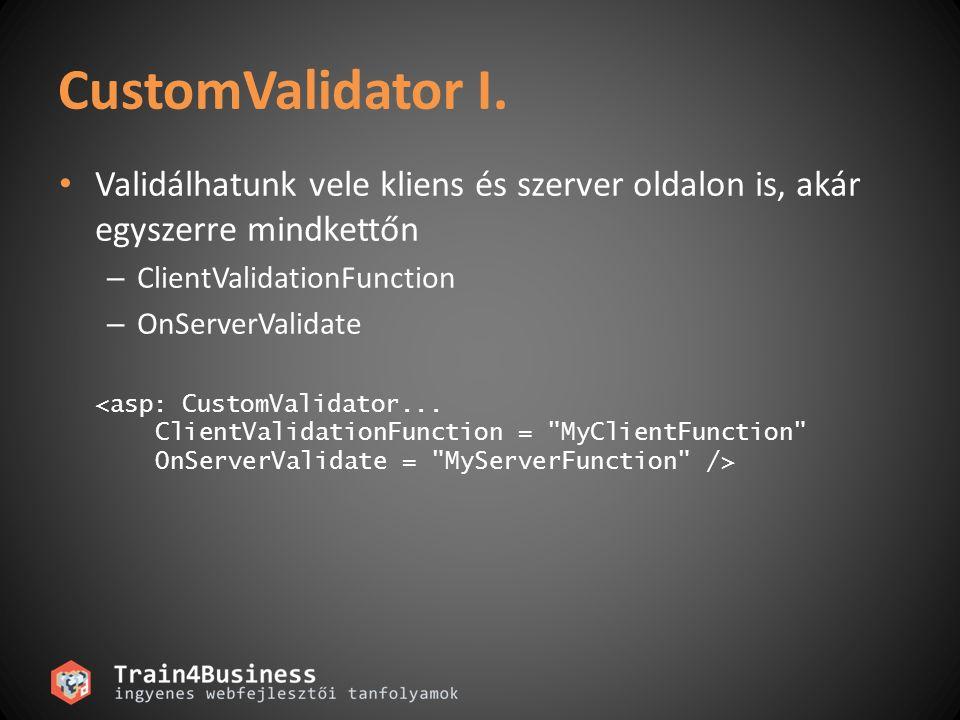 CustomValidator II.