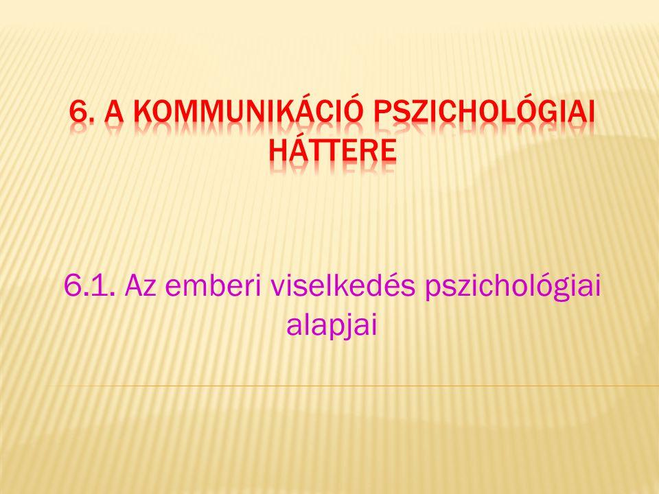 6.1. Az emberi viselkedés pszichológiai alapjai