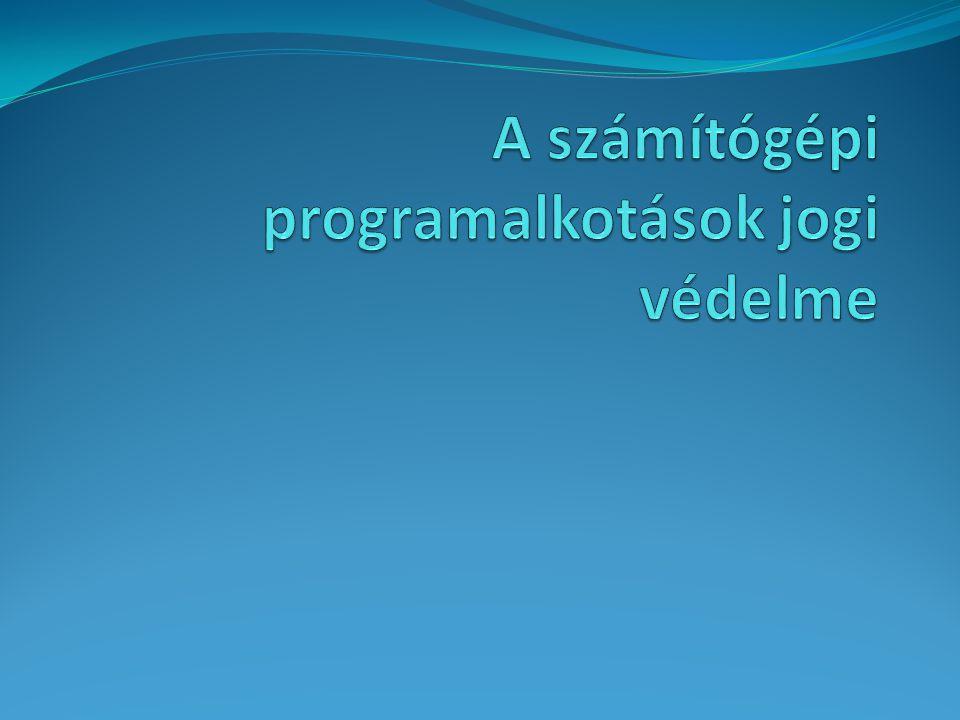 A hardver és szoftver A két fogalom általános jellemzése A szoftver három fő része, s rövid jellemzésük Az operációs rendszer