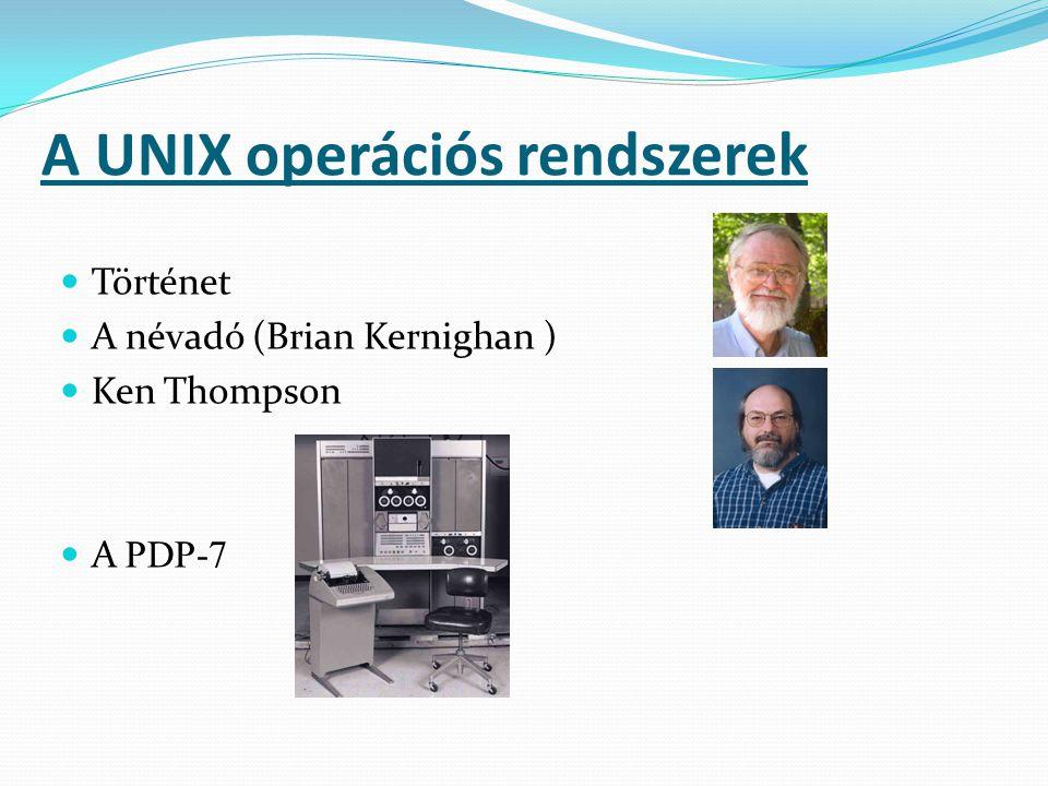 A UNIX operációs rendszerek A PDP-11