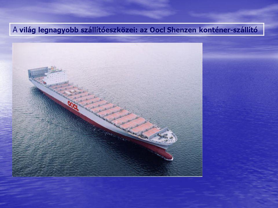 A világ legnagyobb szállítóeszközei: az Oocl Shenzen konténer-szállító Sólyom