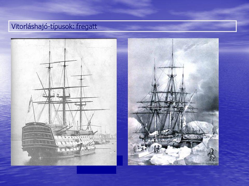 Vitorláshajó-típusok: fregatt