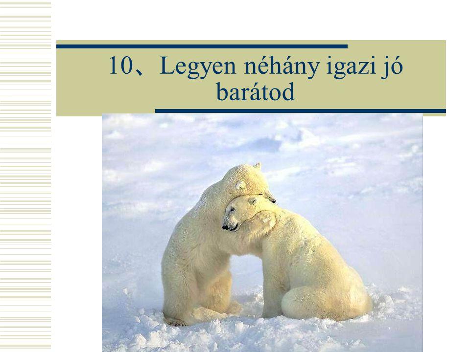 10 、 Legyen néhány igazi jó barátod