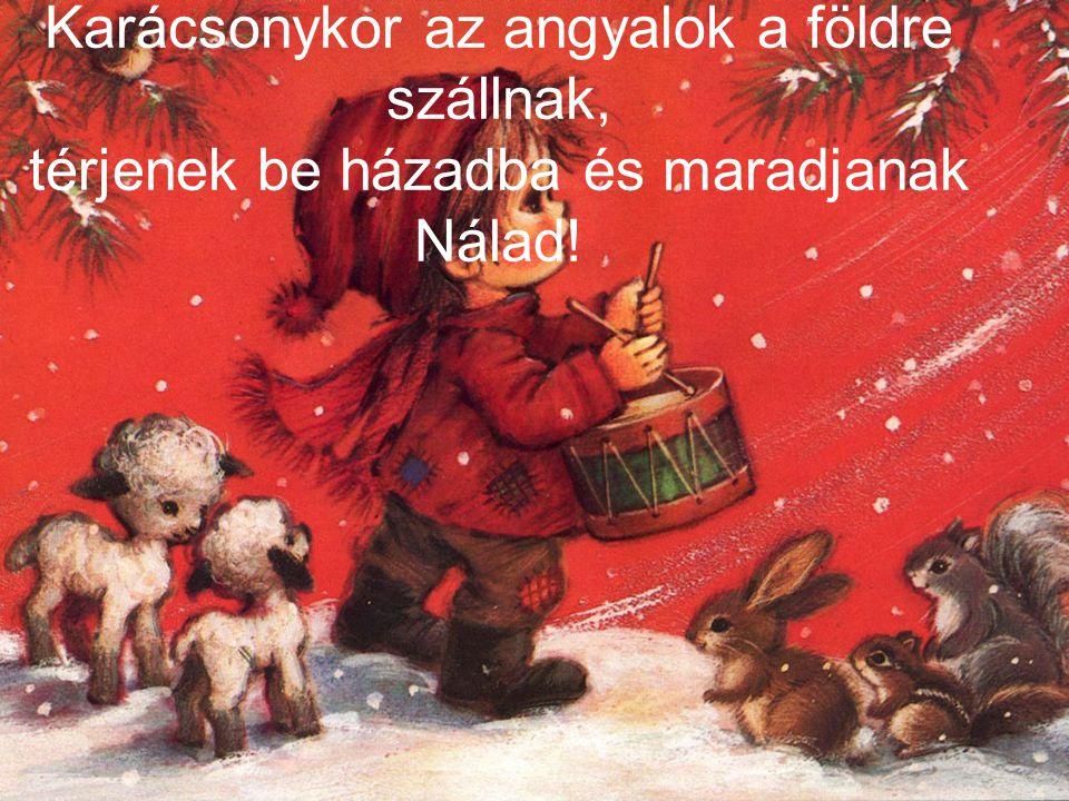 Karácsonykor az angyalok a földre szállnak, térjenek be házadba és maradjanak Nálad!