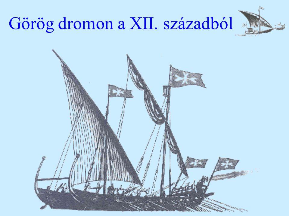 Görög dromon a XII. századból