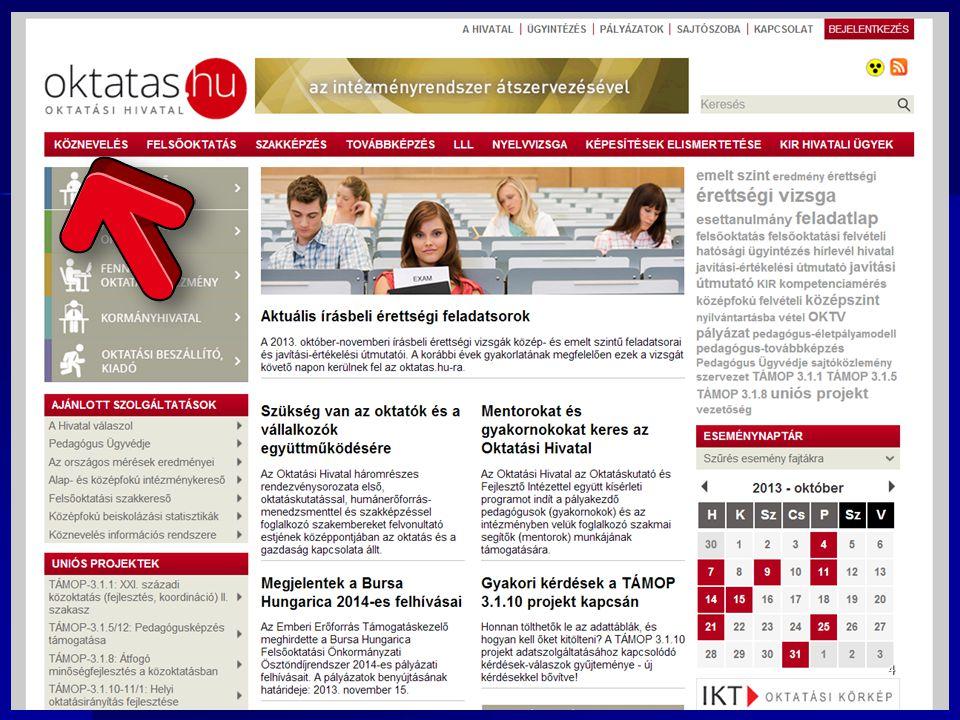 """Módosítás Módosító tanulói adatlap (""""M ) 2014.III."""
