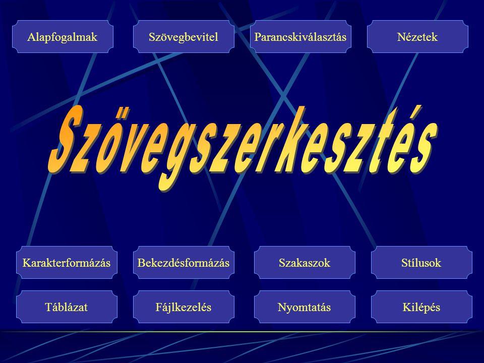 Fájlkezelés Új dokumentum Mentés Automatikus mentés Dokumentum beolvasása