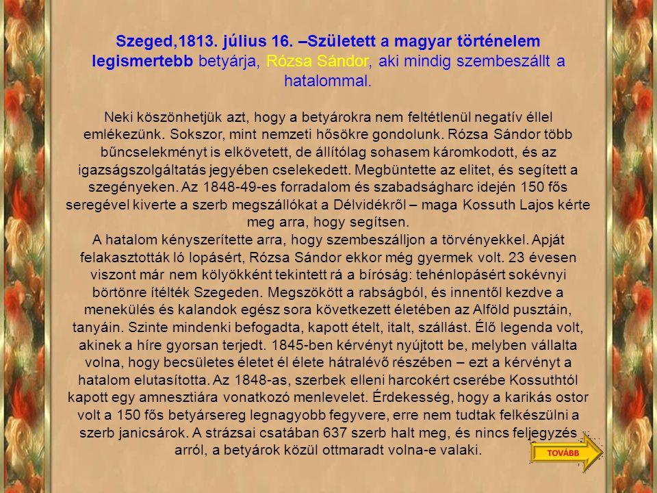 Szeged,1813.július 16.