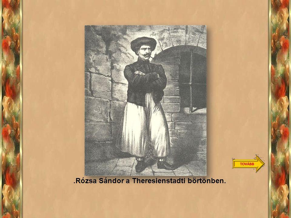 1859 februárjában kezdődött. Rózsa Sándor bírósági tárgyalása. Annyira népszerű volt, hogy nem merték kivégezni, életfogytiglani börtönre ítélték. Kuf