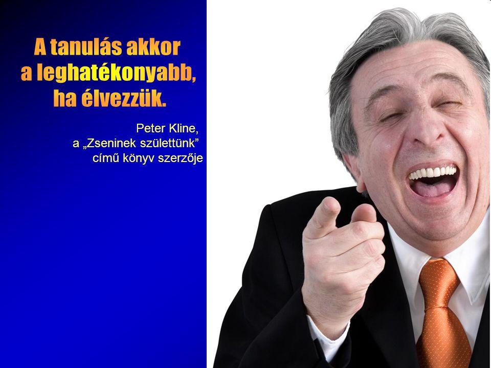 """Peter Kline, a """"Zseninek születtünk című könyv szerzője"""