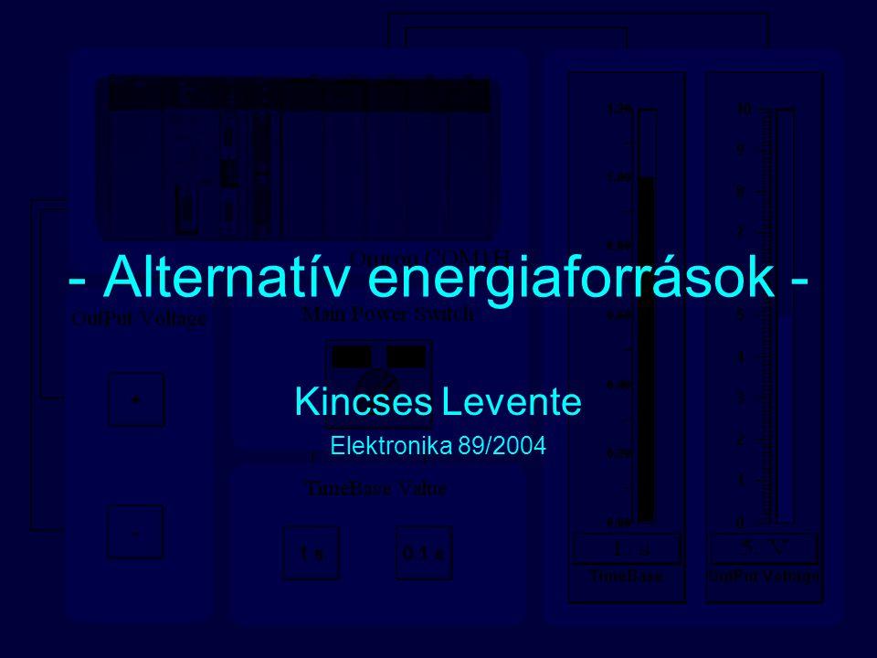 - Alternatív energiaforrások - Kincses Levente Elektronika 89/2004