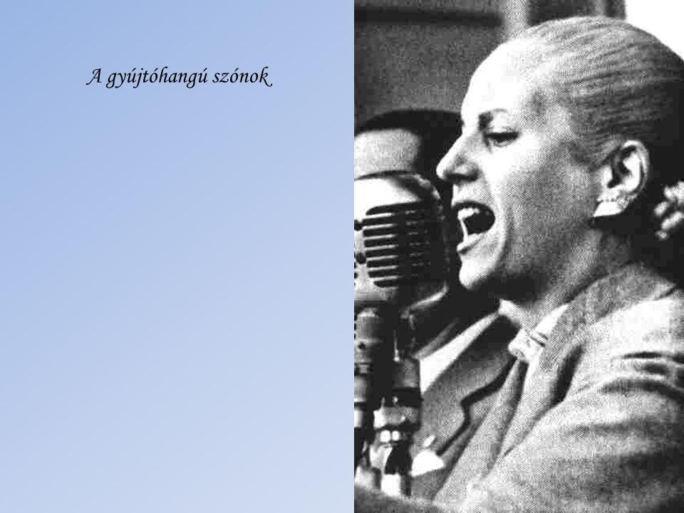 1947-ben az általa alapított Peronista Nőpárt elnöke lesz. Kiharcolja és törvénybe iktattatja a nők szavazati jogát.