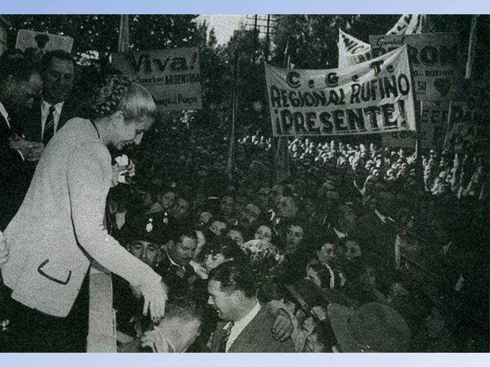 A Peronista Szakszer vezetnek dedikált képe