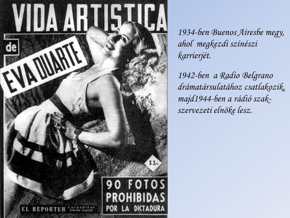 1947-ben az általa alapított Peronista Nőpárt elnöke lesz.