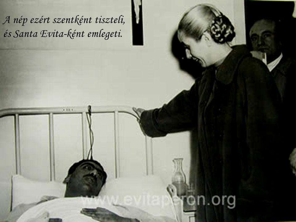 1948-ban létrehozza az Eva Perón Alapítványt, amely jótékonysági tevékenysége folytán támogatja a szegényeket, akik számára falvakat építtet kórházzal