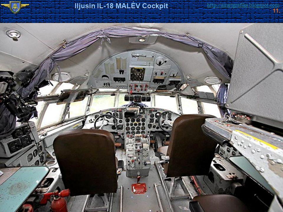 http://airartgrafika.blogspot.com Iljusin IL-18 MALÉV Cockpit 11.