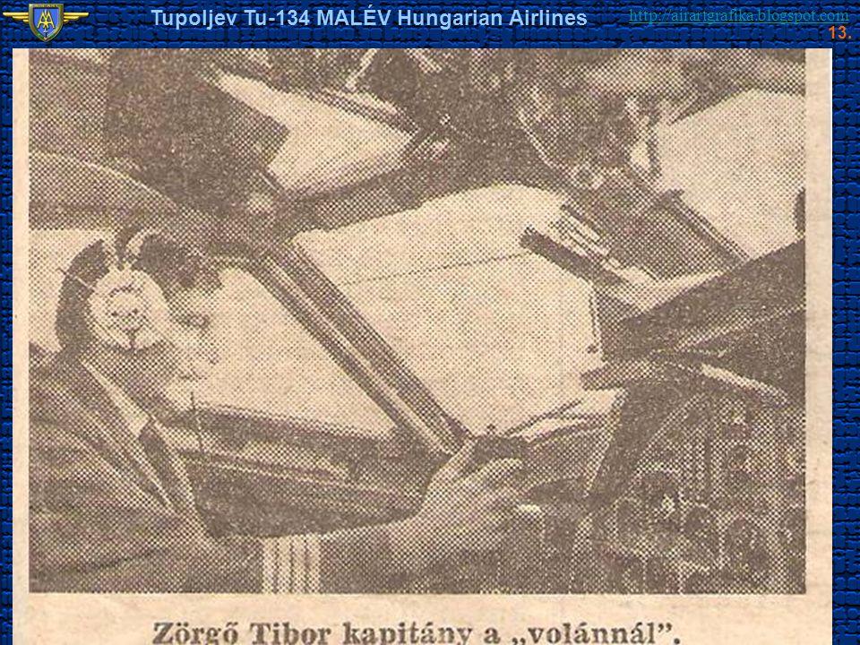 http://airartgrafika.blogspot.com Tupoljev Tu-134 MALÉV Hungarian Airlines 13.