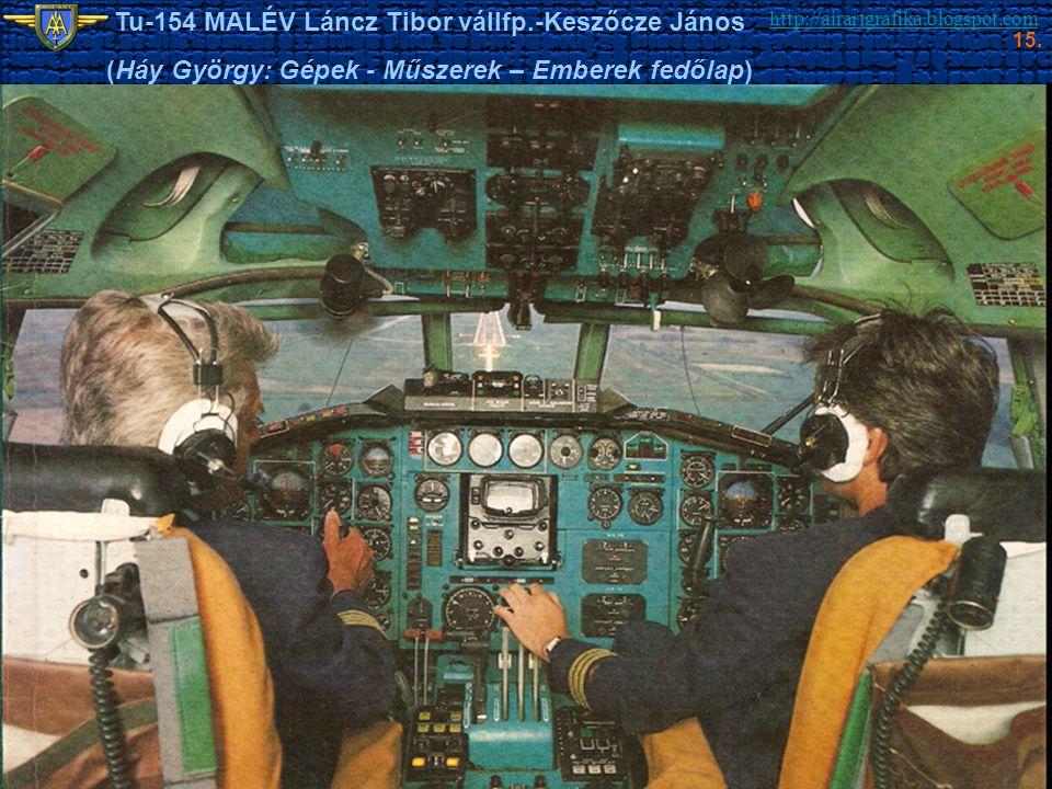 http://airartgrafika.blogspot.com Tu-154 MALÉV Láncz Tibor vállfp.-Keszőcze János (Háy György: Gépek - Műszerek – Emberek fedőlap) 15.