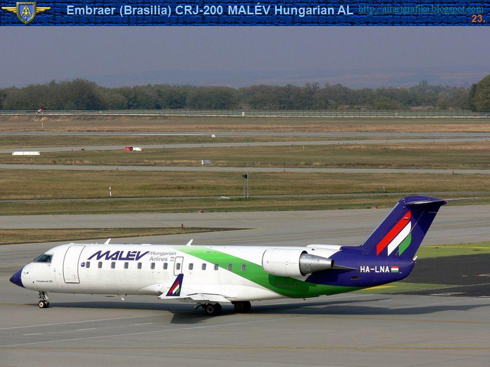 http://airartgrafika.blogspot.com Embraer (Brasilia) CRJ-200 MALÉV Hungarian AL 23.