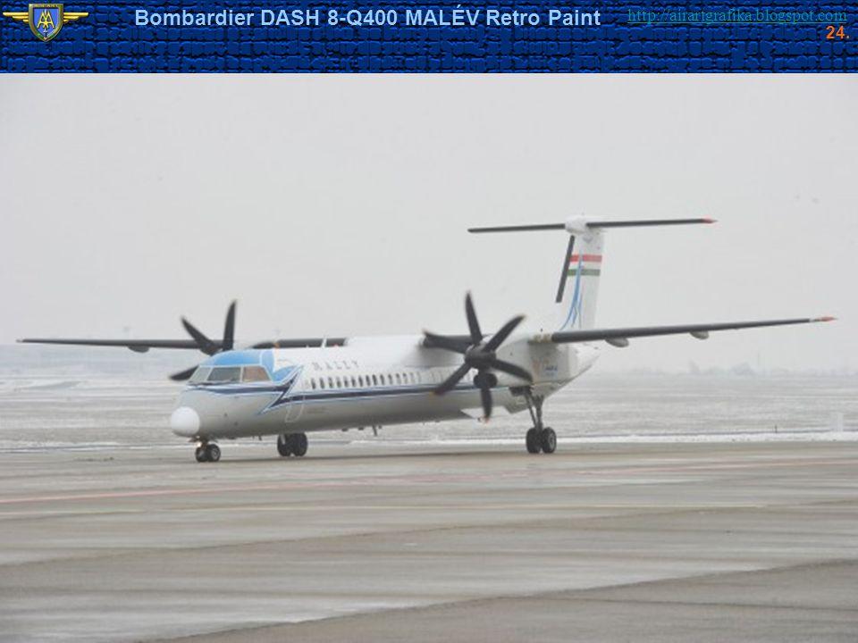 http://airartgrafika.blogspot.com Bombardier DASH 8-Q400 MALÉV Retro Paint 24.