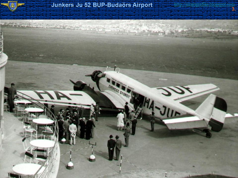 http://airartgrafika.blogspot.com Junkers Ju 52 BUP-Budaörs Airport 3.