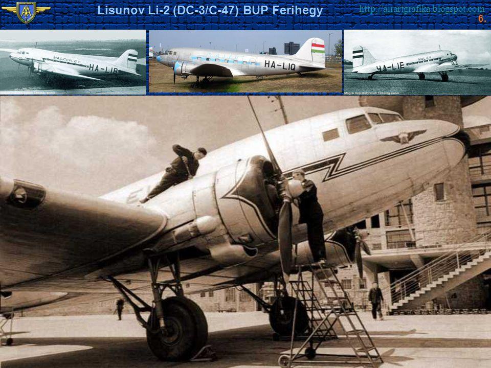 http://airartgrafika.blogspot.com Lisunov Li-2 (DC-3/C-47) BUP Ferihegy 6.