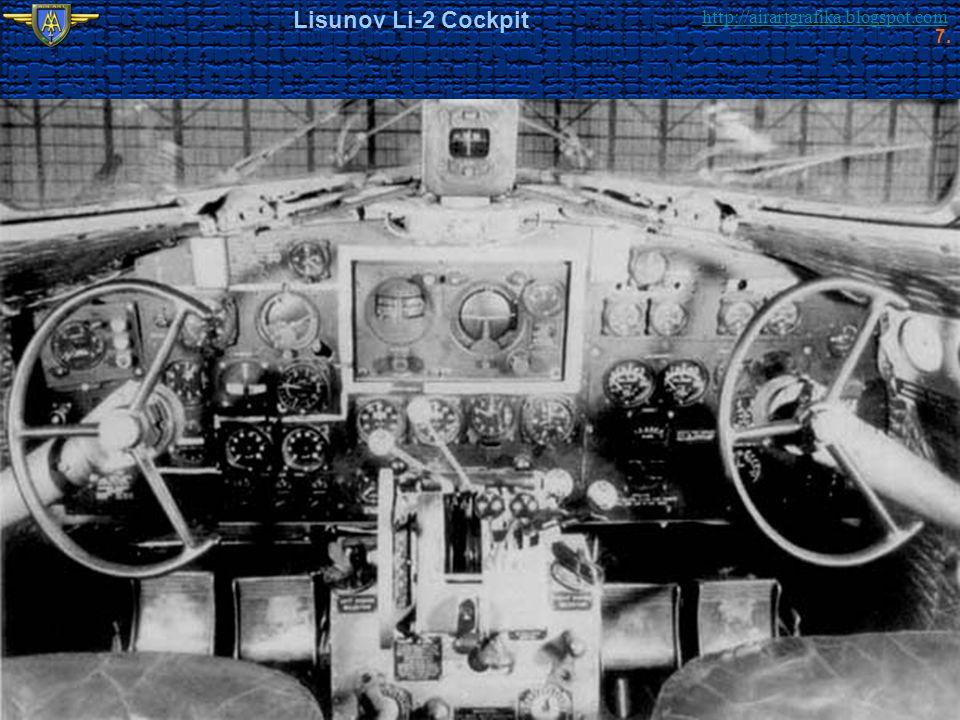 http://airartgrafika.blogspot.com Lisunov Li-2 Cockpit 7.