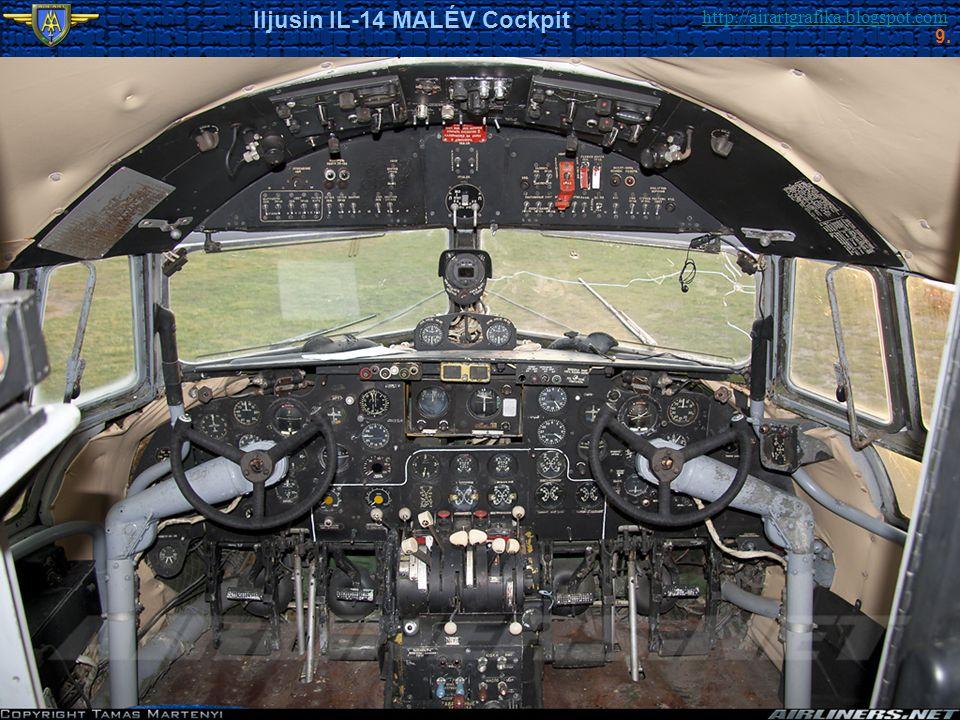 http://airartgrafika.blogspot.com Iljusin IL-14 MALÉV Cockpit 9.