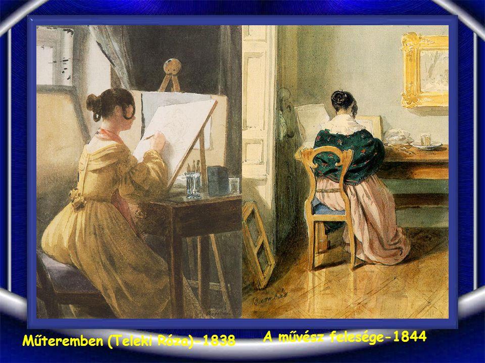 Nő csíkos ruhában-1844
