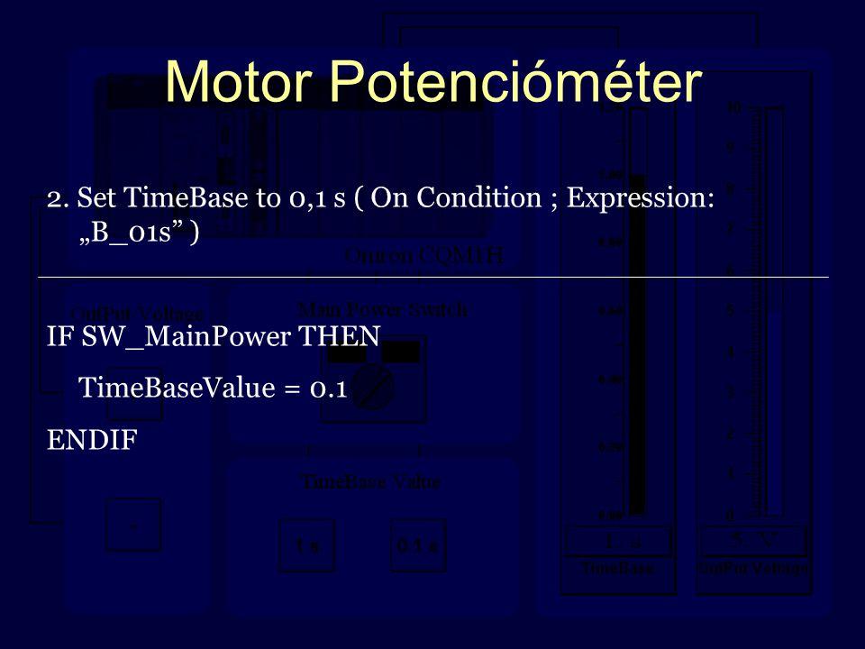 Motor Potencióméter 2.