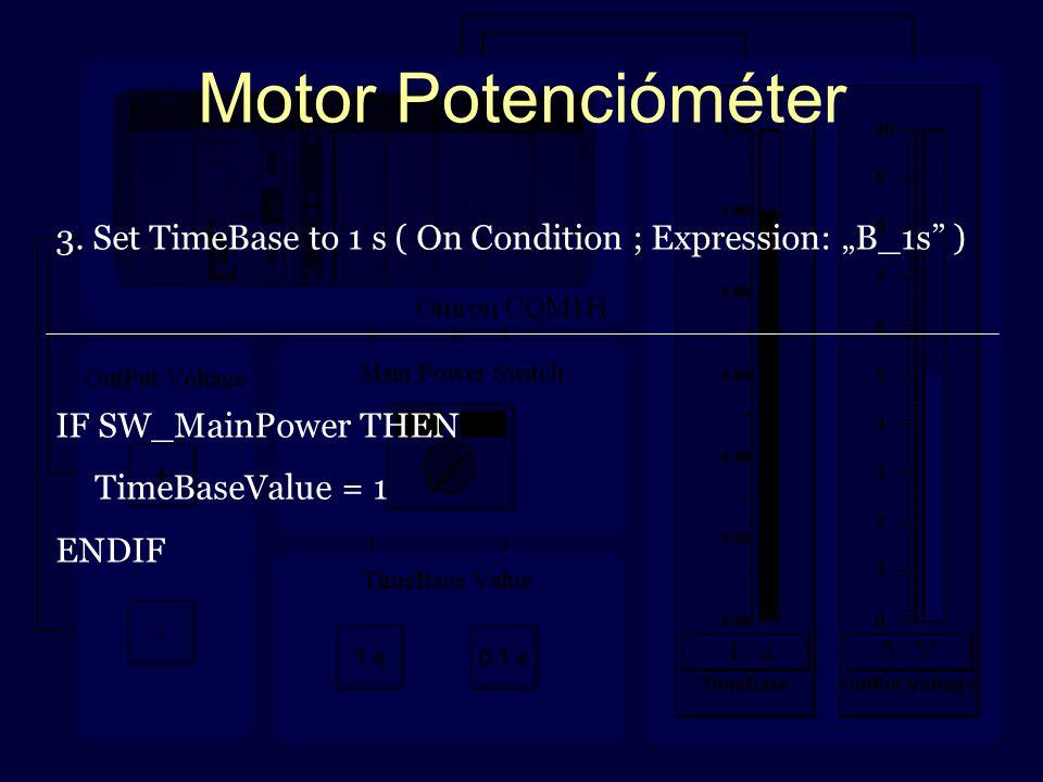 Motor Potencióméter 3.