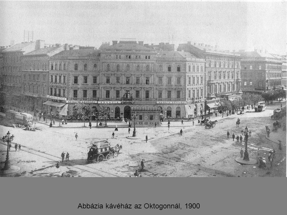 Abbázia kávéház az Oktogonnál, 1900