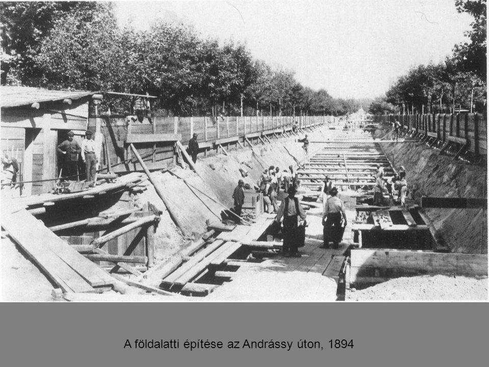 A földalatti építése az Andrássy úton, 1894