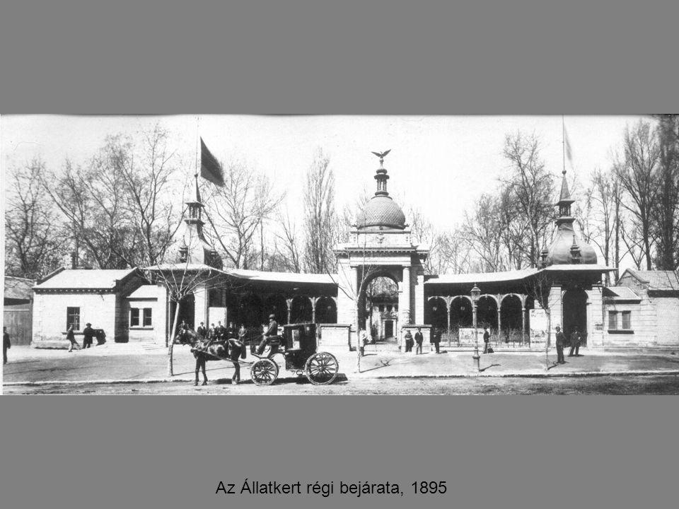 Az Állatkert régi bejárata, 1895
