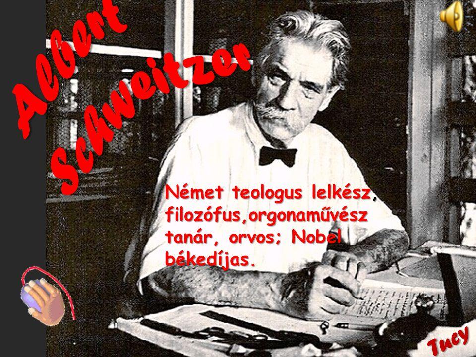 Német teologus lelkész, filozófus,orgonaművész tanár, orvos; Nobel békedíjas. Tucy