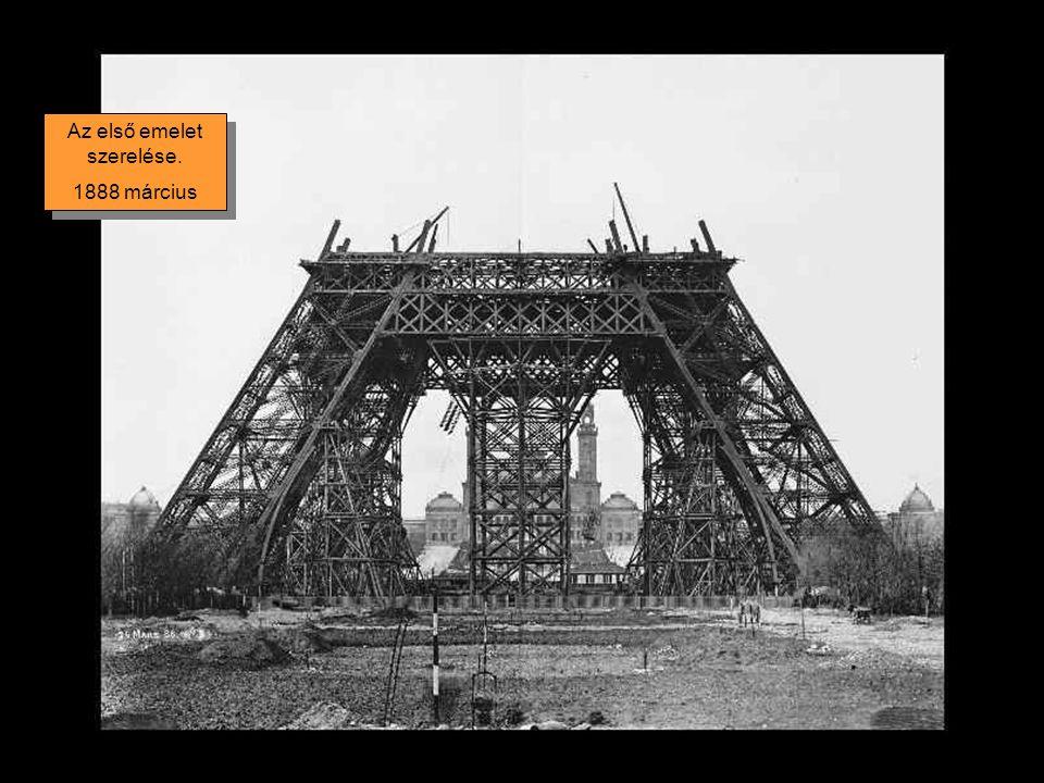 A pillérek összeszerelése 1887.