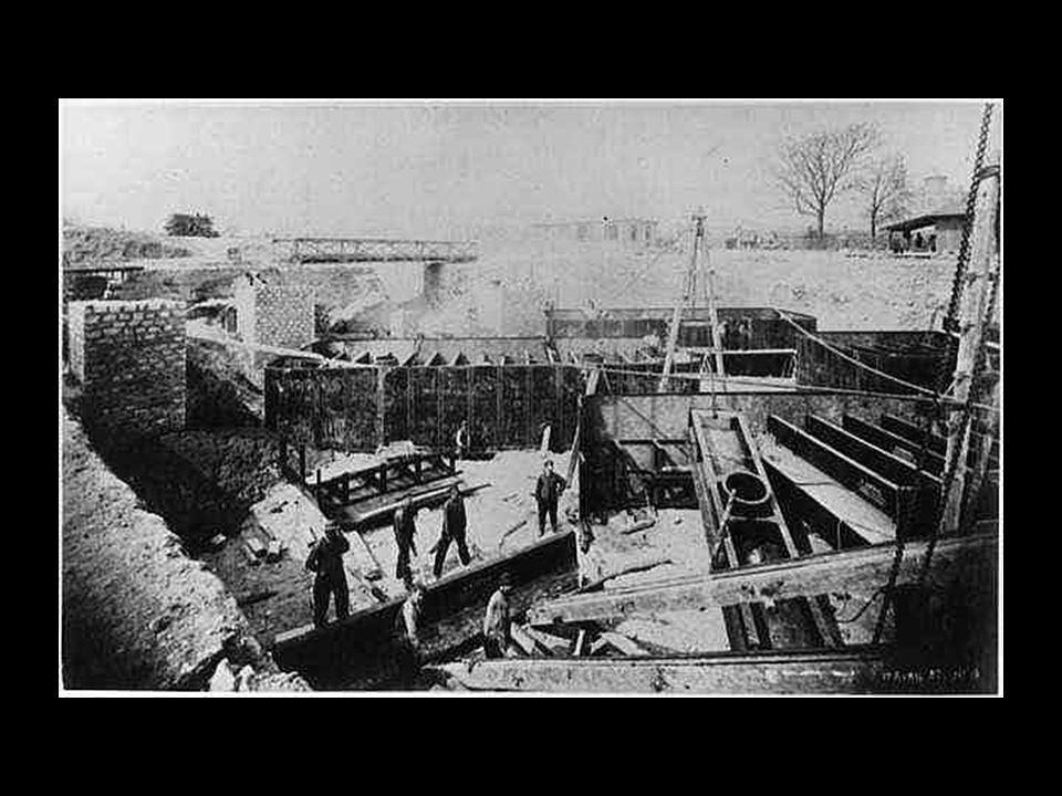 A pillérek szerelése. 1888 május A pillérek szerelése. 1888 május
