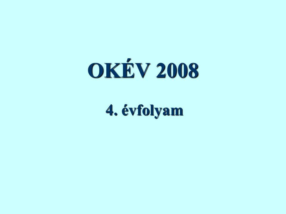 OKÉV 2008 4. évfolyam