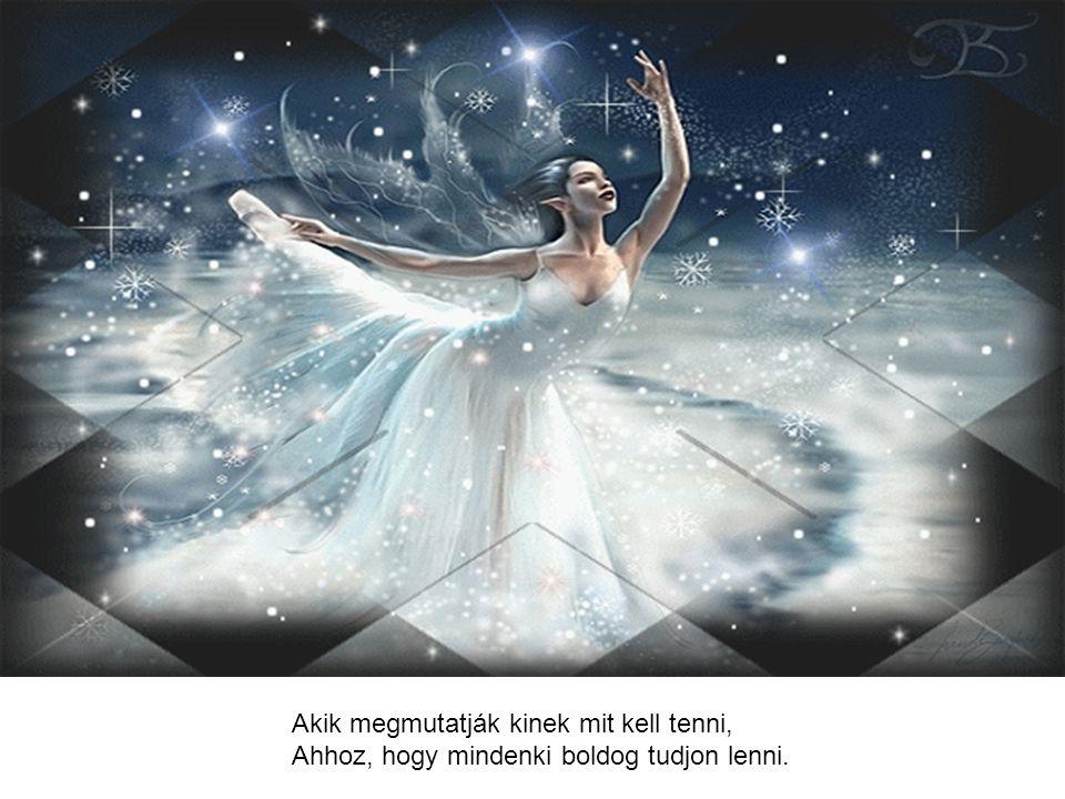 Bízom hát a szépben, jóban, emberségben, És az angyalokban odafönn az égben.