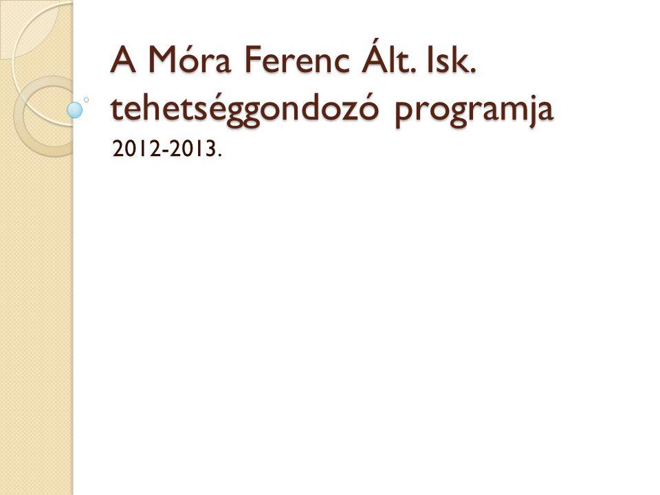 A Móra Ferenc Ált. Isk. tehetséggondozó programja 2012-2013.
