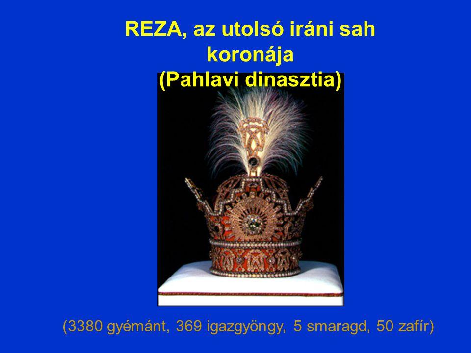 (1800 igazgyöngy, 1800 rubin, 300 smaragd, 300 gyémánt) KIANI iráni sah koronája (Qajar dinasztia)