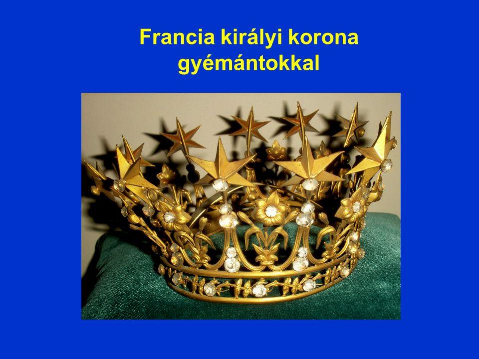 Francia királynői korona zafírokkal